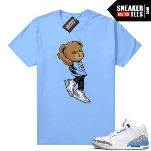 UNC 3s shirt match Carolina Blue Shootin Bear