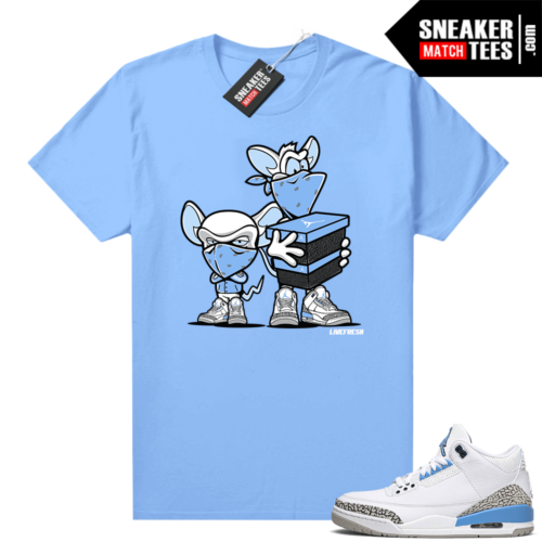 UNC 3s shirt match Carolina Blue Sneaker Heist