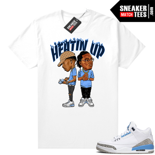 UNC 3s sneaker outfit Heatin Up