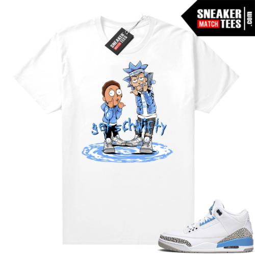 UNC Jordan 3s shirt Get Schwifty