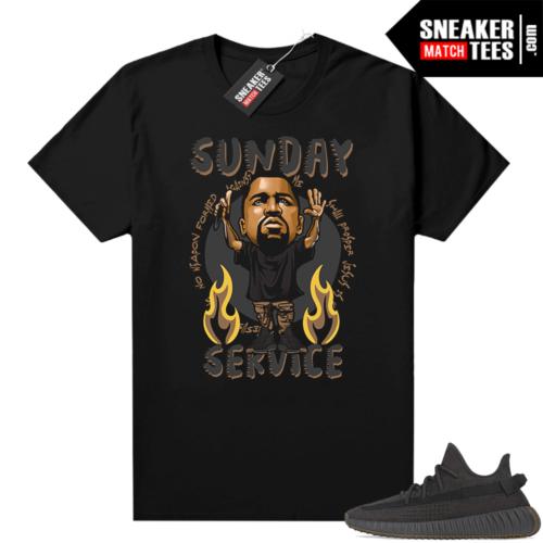 Yeezy 350 Cinder shirt Black Ye Sunday Service