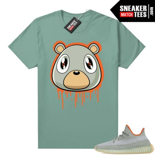 Yeezy 350 Desert Sage Shirt Heather Green Bear Drip