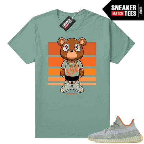 Yeezy 350 Desert Sage Shirt Heather Green Nuwave Bear