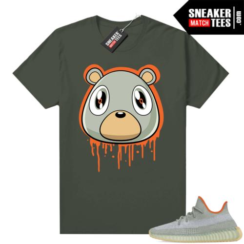Yeezy 350 Desert Sage Shirt Olive Bear Drip