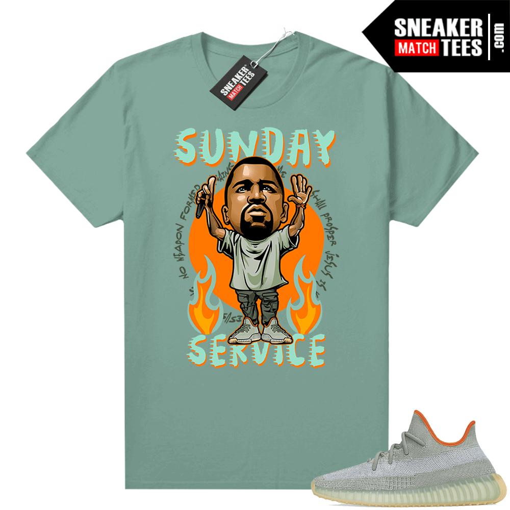 Yeezy 350 Desert Sage Shirt Sage Green Sunday Service Ye Toon