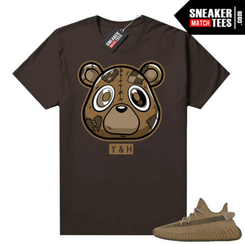 Yeezy 350 Earth Shirt Chocolate Young and Heartless Bear