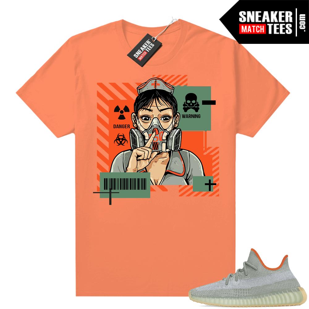 Yeezy 350 V2 Desert Sage shirt Hyper Orange Quarantine Nurse