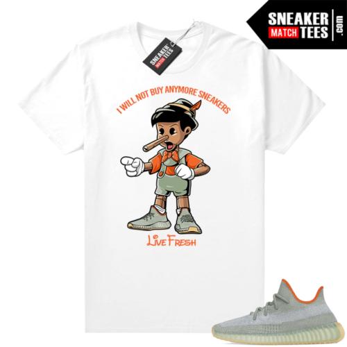 Yeezy Boost 350 V2 Desert Sage tees White Sneakerhead Pinocchio