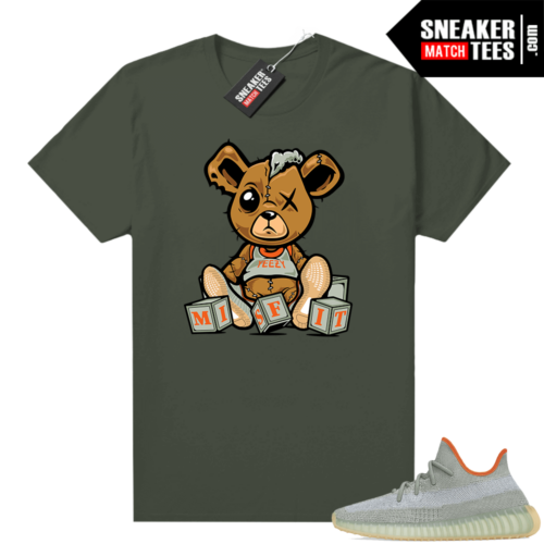 Yeezy Boost 350 V2 shirt Olive Green Misfit Teddy