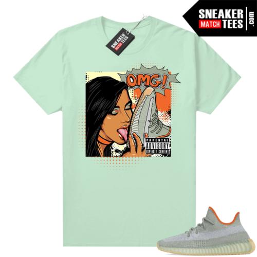 Yeezy Desert Sage 350 sneaker tees Mint OMG sneakers