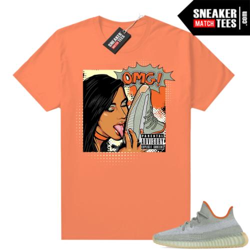 Yeezy Desert Sage 350 sneaker tees Orange OMG sneakers