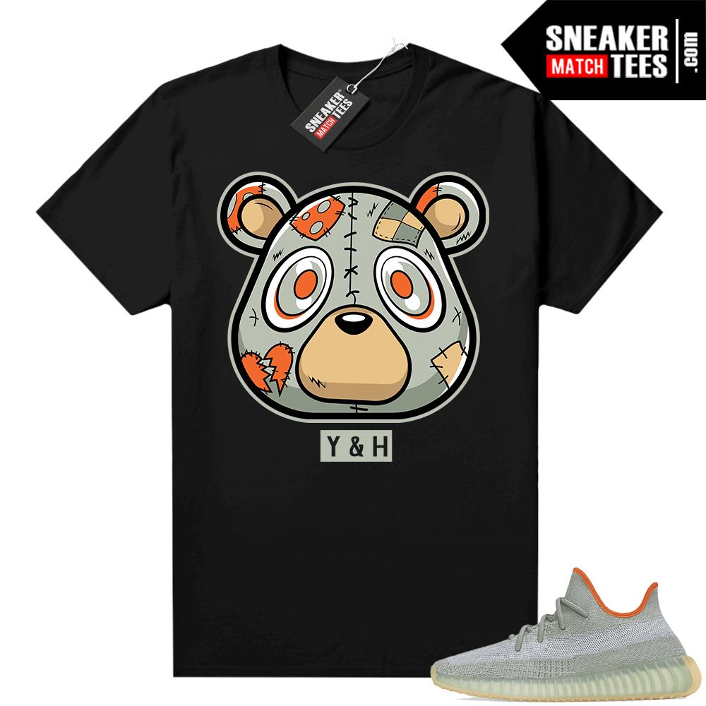 Yeezy shirt outfit Desert Sage 350 Heartless Bear Black
