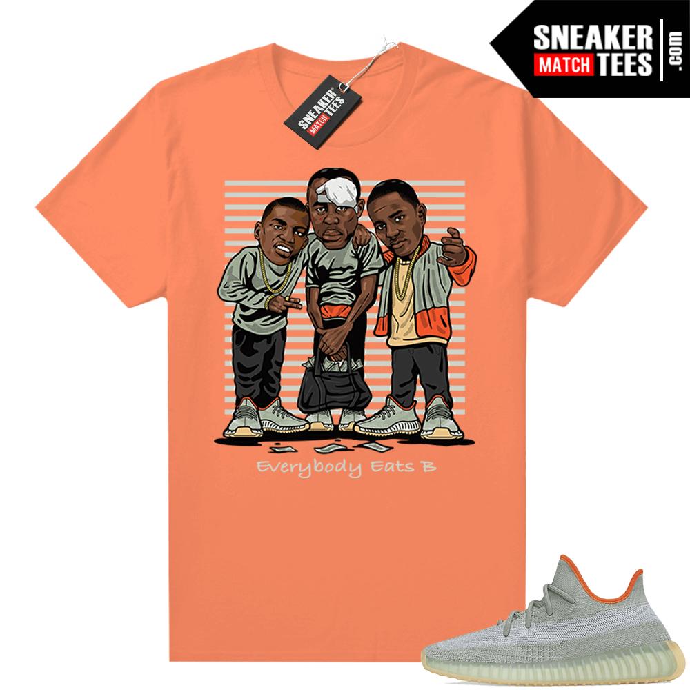 Yeezy shirts Desert Sage 350 Match Orange Everybody Eats B