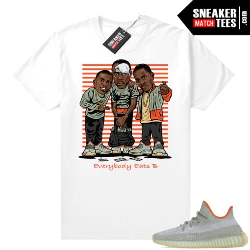 Yeezy shirts Desert Sage 350 Match White Everybody Eats B