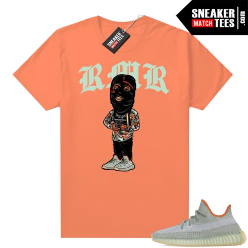 Yeezy t-shirts Desert Sage 350 V2 RMR Orange tee