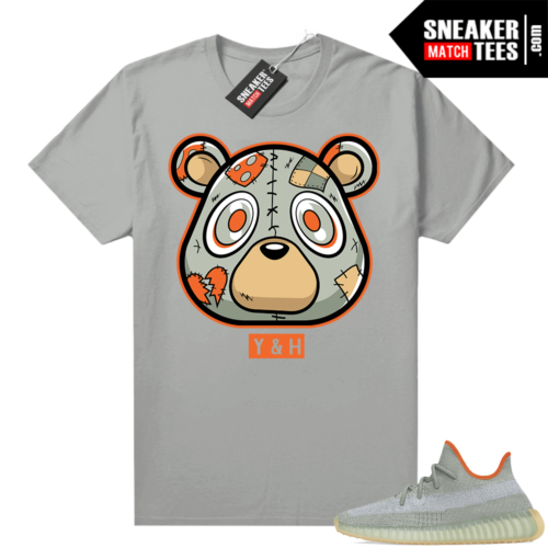 Yeezy tees Desert Sage 350 Heartless Bear Silver