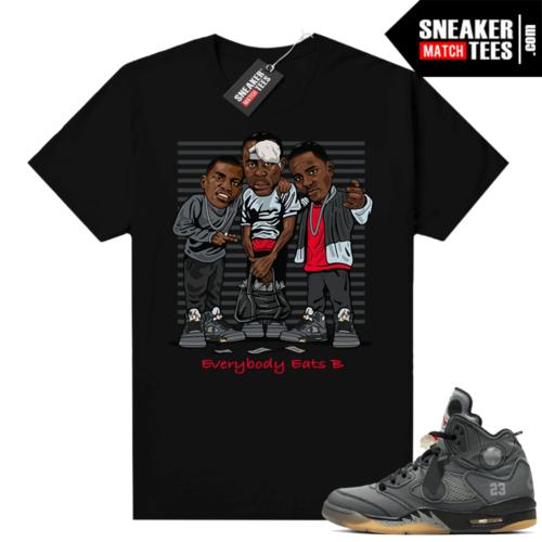 off white 5s Jordan shirt black Everybody Eats B