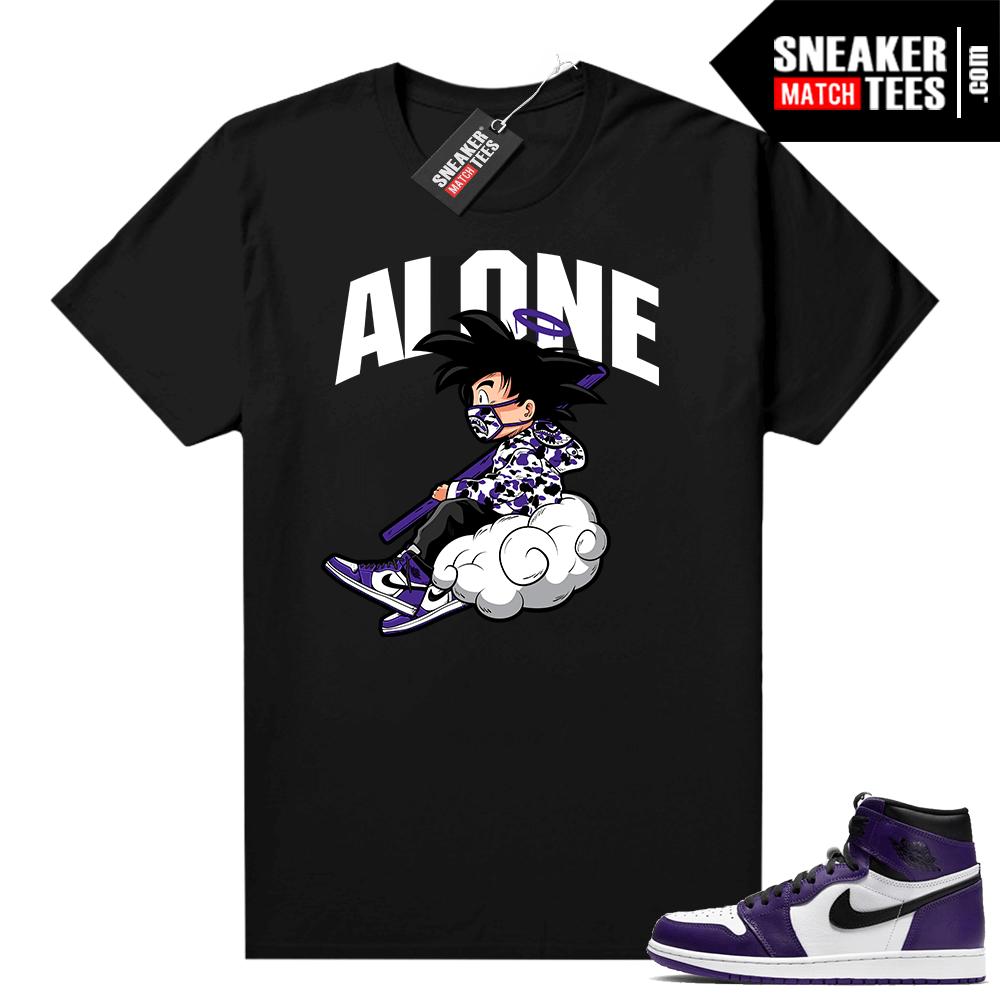 Court Purple 1s Jordan Graphic tees Alone