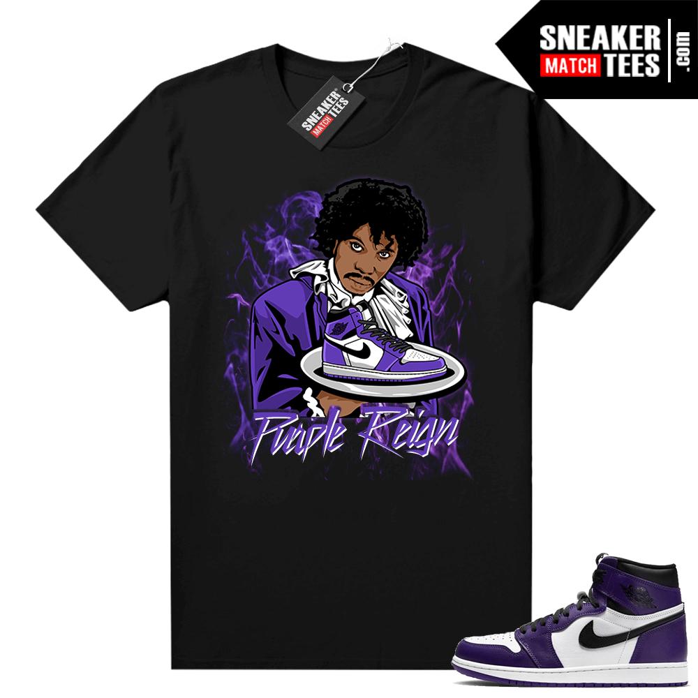 Court Purple 1s Jordan Graphic tees Chapelle Purple Reign