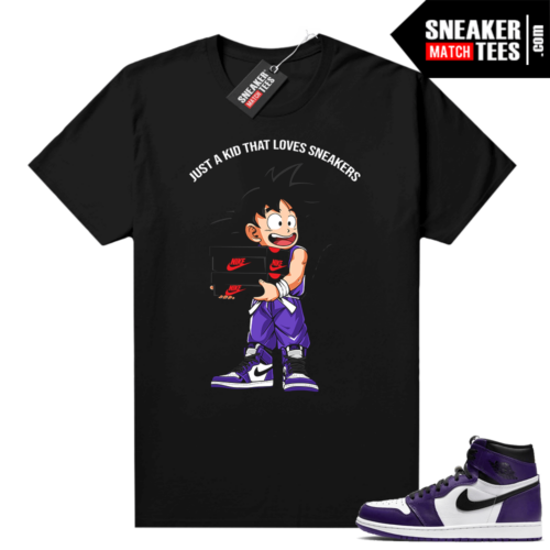 Court Purple 1s Jordan Graphic tees Just A Kid