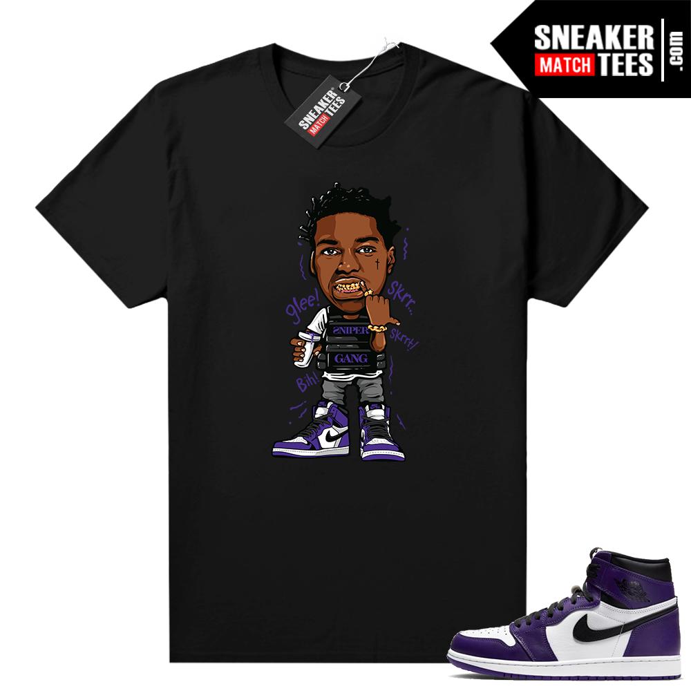 Court Purple 1s Jordan Graphic tees Kodak Glee