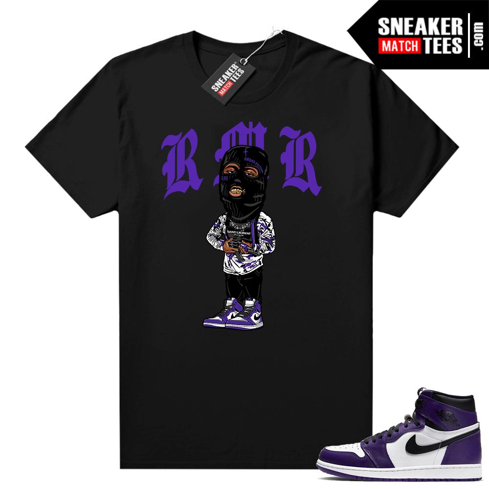 Court Purple 1s Jordan Graphic tees RMR Toon