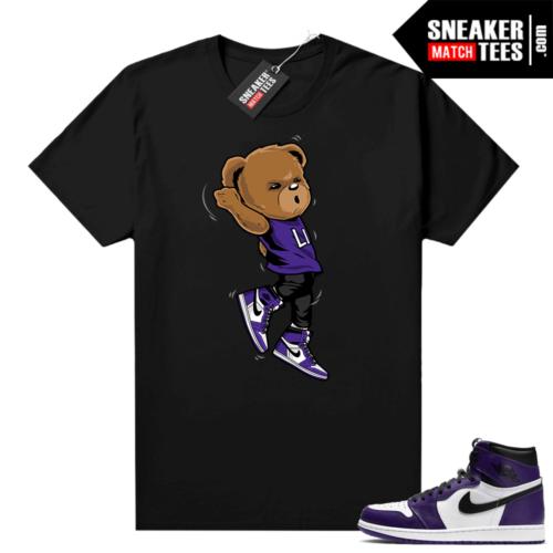 Court Purple 1s Jordan Graphic tees Shootin Bear