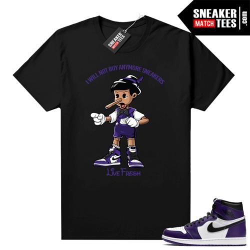 Court Purple 1s Jordan Graphic tees Sneakerhead Pinocchio