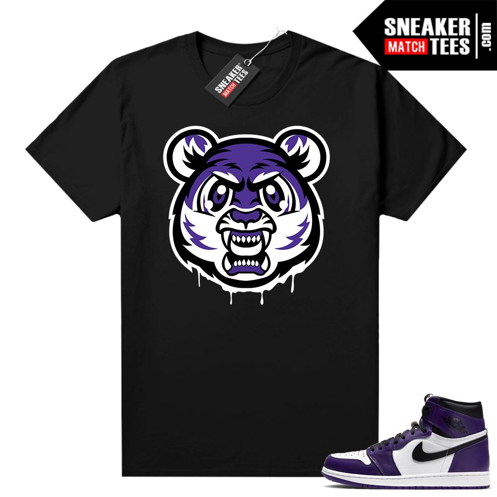 Court Purple 1s Jordan Graphic tees Tiger Gang