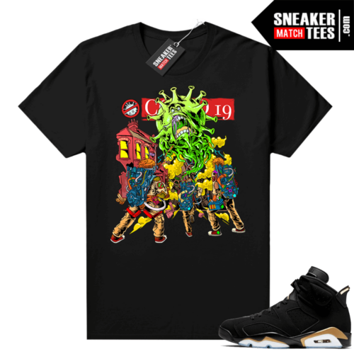 DMP 6s Graphic Tees Ghost Busters Vs Covid
