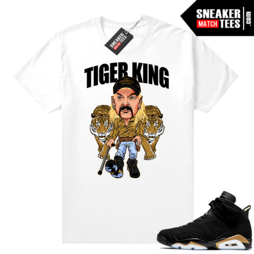 DMP 6s Graphic Tees White Tiger King