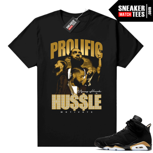 DMP 6s matching graphic tees Nipsey Hussle Prolific (1)