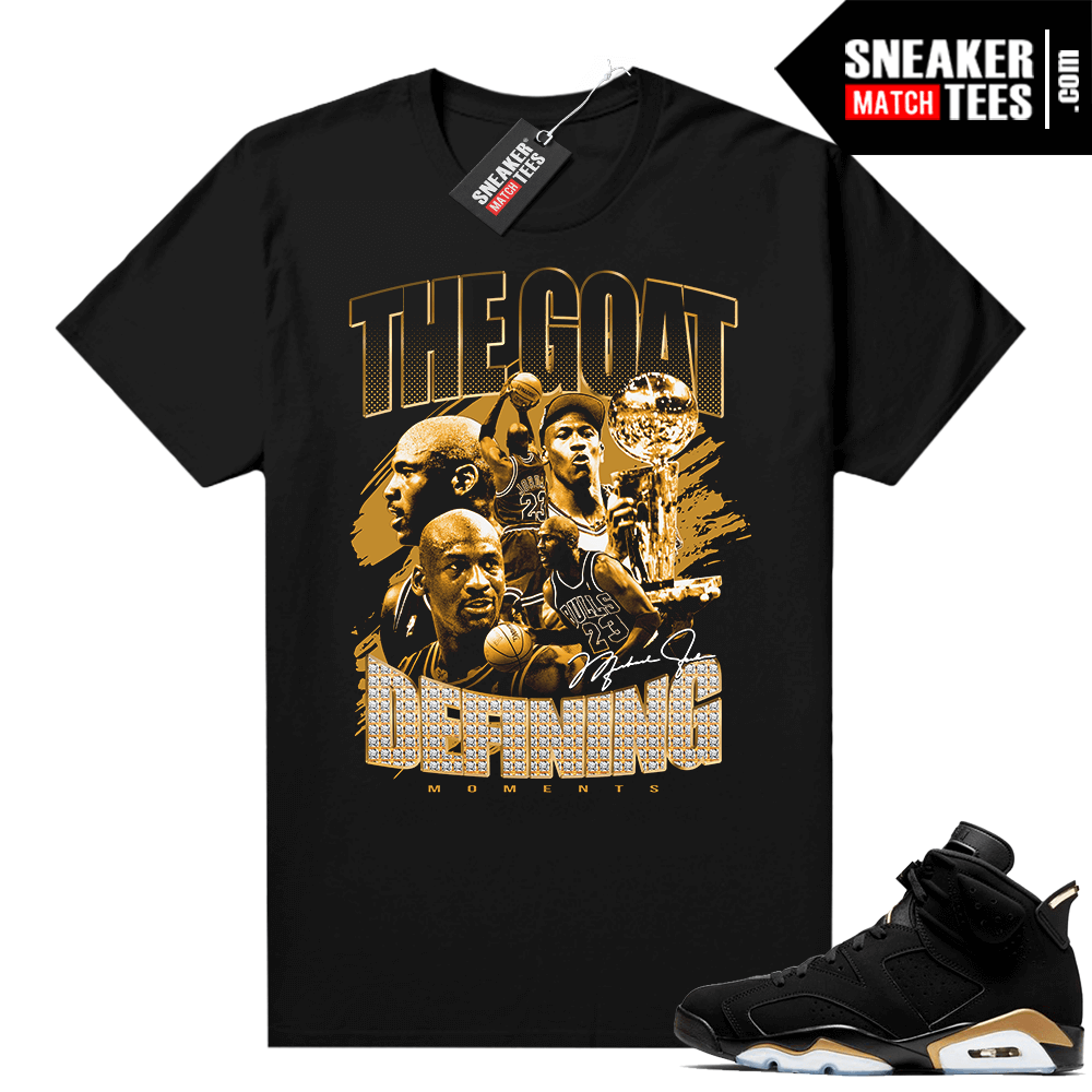 DMP 6s matching graphic tees The Goat