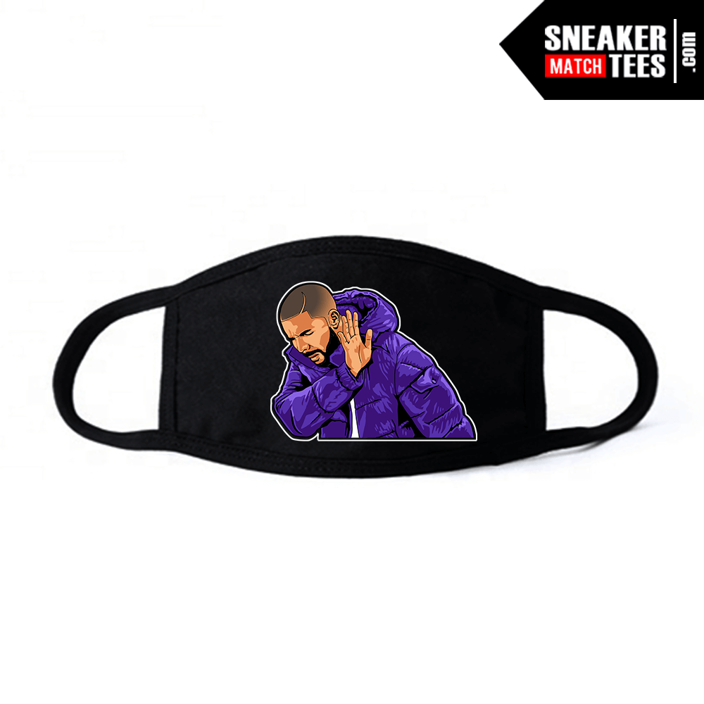 Face Mask Black Court Purple 1s Drake Social Distancing