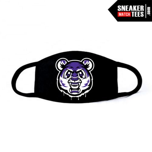 Face Mask Black Court Purple 1s Tiger Gang