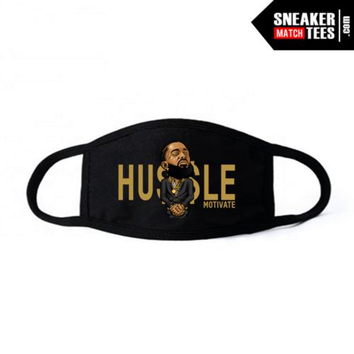 Face Mask Black DMP 6 Hussle Motivate