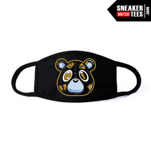 Face Mask Black DMP 6s Heartless Bear