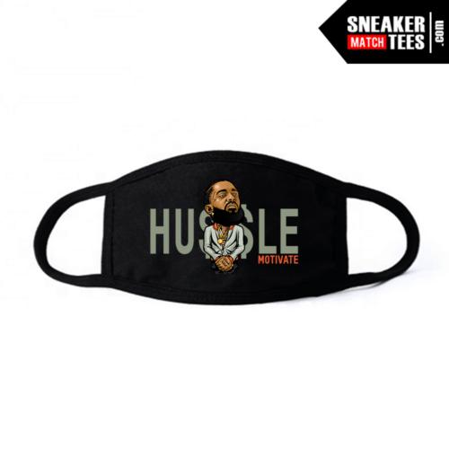 Face Mask Black Desert Sage 350 Hussle Motivate