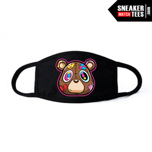 Face Mask Black Heartless bear