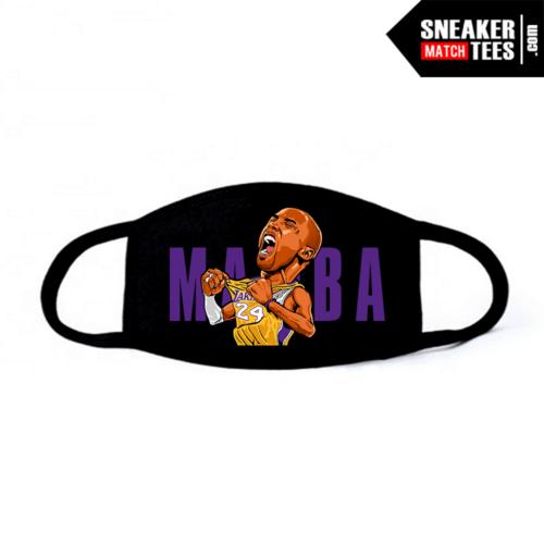 Face Mask Black Mamba Mentality Gold Purple