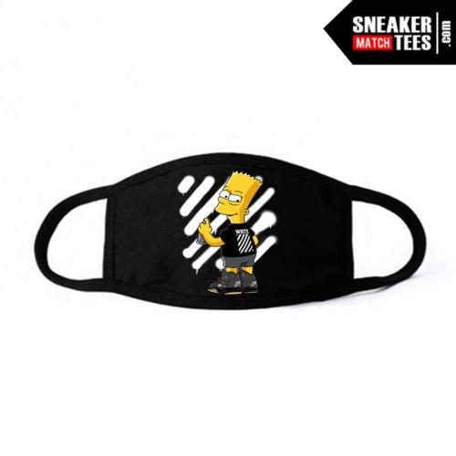Face Mask Black Off white 5s Bart