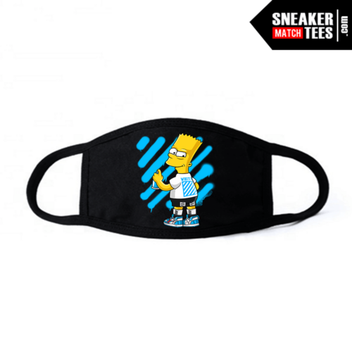 Face Mask Black Off white UNC 1s Bart