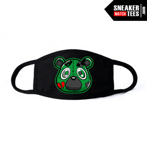 Face Mask Black Pine Green 1s Heartless bear