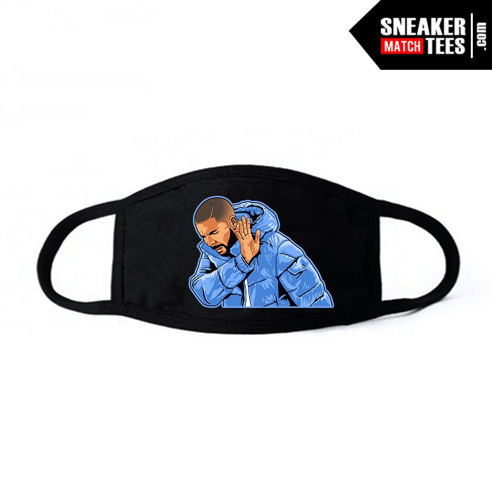 Face Mask Black UNC 3s Drake Social Distancing