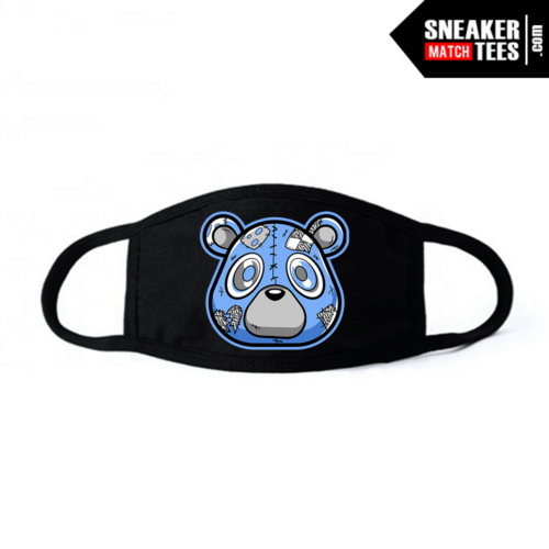Face Mask Black UNC 3s Heartless bear