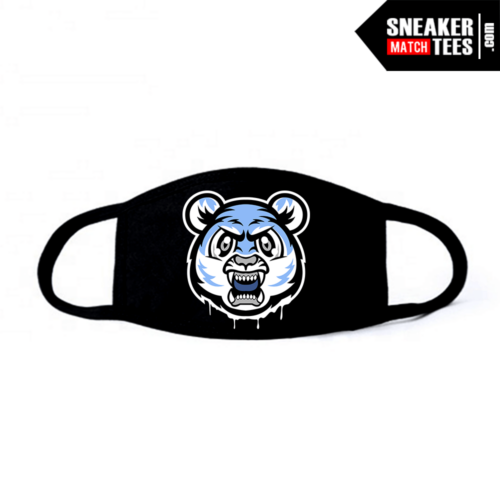 Face Mask Black UNC 3s Tiger Gang