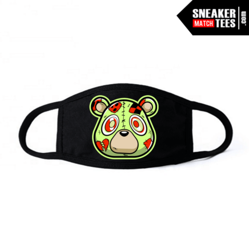 Face Mask Black Yeezy Frozen Yellow Heartless Bear