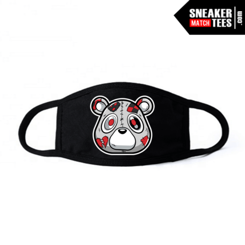 Face Mask Black Yeezy Zebra Heartless Bear