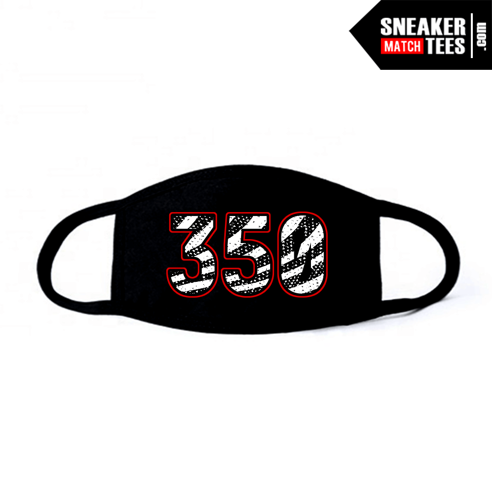 Face Mask Black Zebra Yeezy 350
