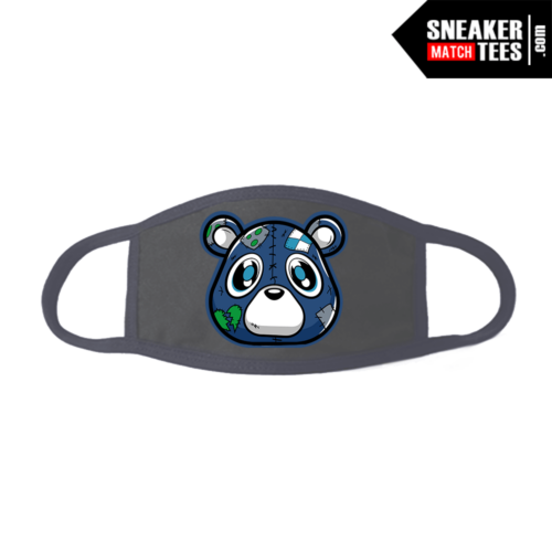 Face Mask Grey Flint 13s Heartless Bear